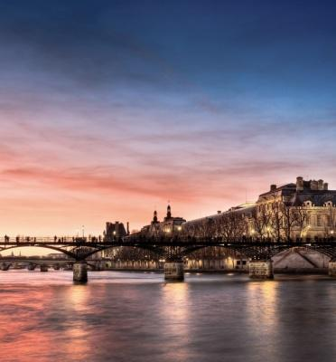 Pont des Arts and the Seine river in Paris